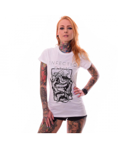 infected rain the earth mantra girlie t shirt