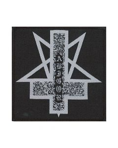 44240 abigor pentagram cross logo patch