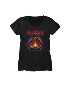 alestorm curse of the crystal coconut ladies t shirt